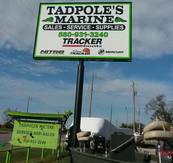 Tadpoles Marine sign